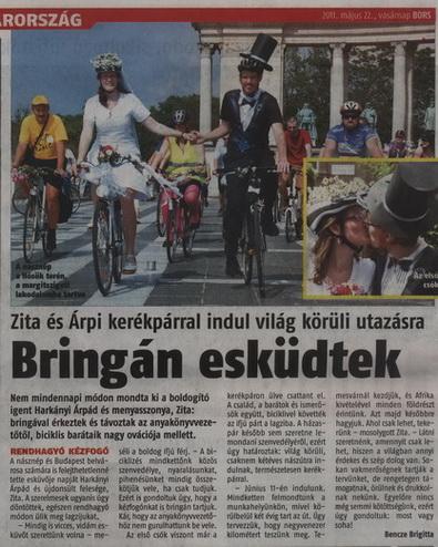 Vasárnapi Bors - Zita és Árpi bringás esküvője a 6. oldalon